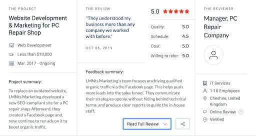 Clutch Review LMNTs Marketing