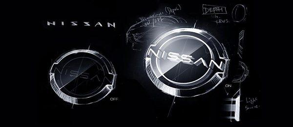Nissan redesigned logo