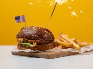 sparkler in hamburger