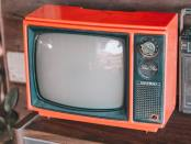 an old TV set.