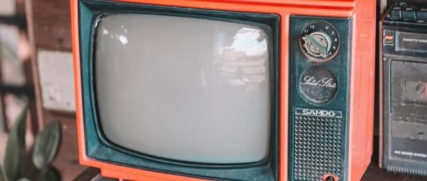 an old TV set.