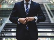 Profile shot of a man wearing a business suit