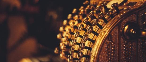 a gold cash register