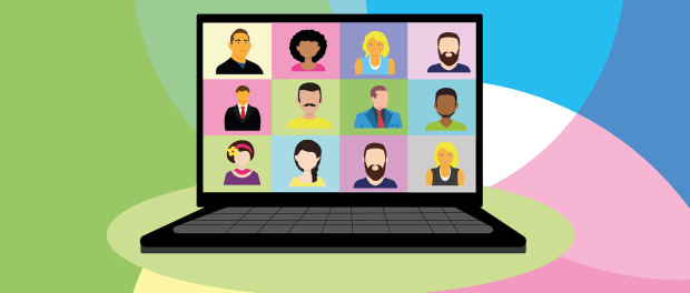 a video conference graphic