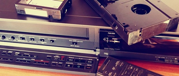 a video player and tapes