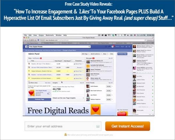 В этом бесплатном видео вы узнаете: Как увеличить вовлечение и количество 'Лайков' на вашу страницу в Facebook, А ТАКЖЕ построить гиперактивный список подписчиков просто раздавая реальные (и очень дешевые) вещи…