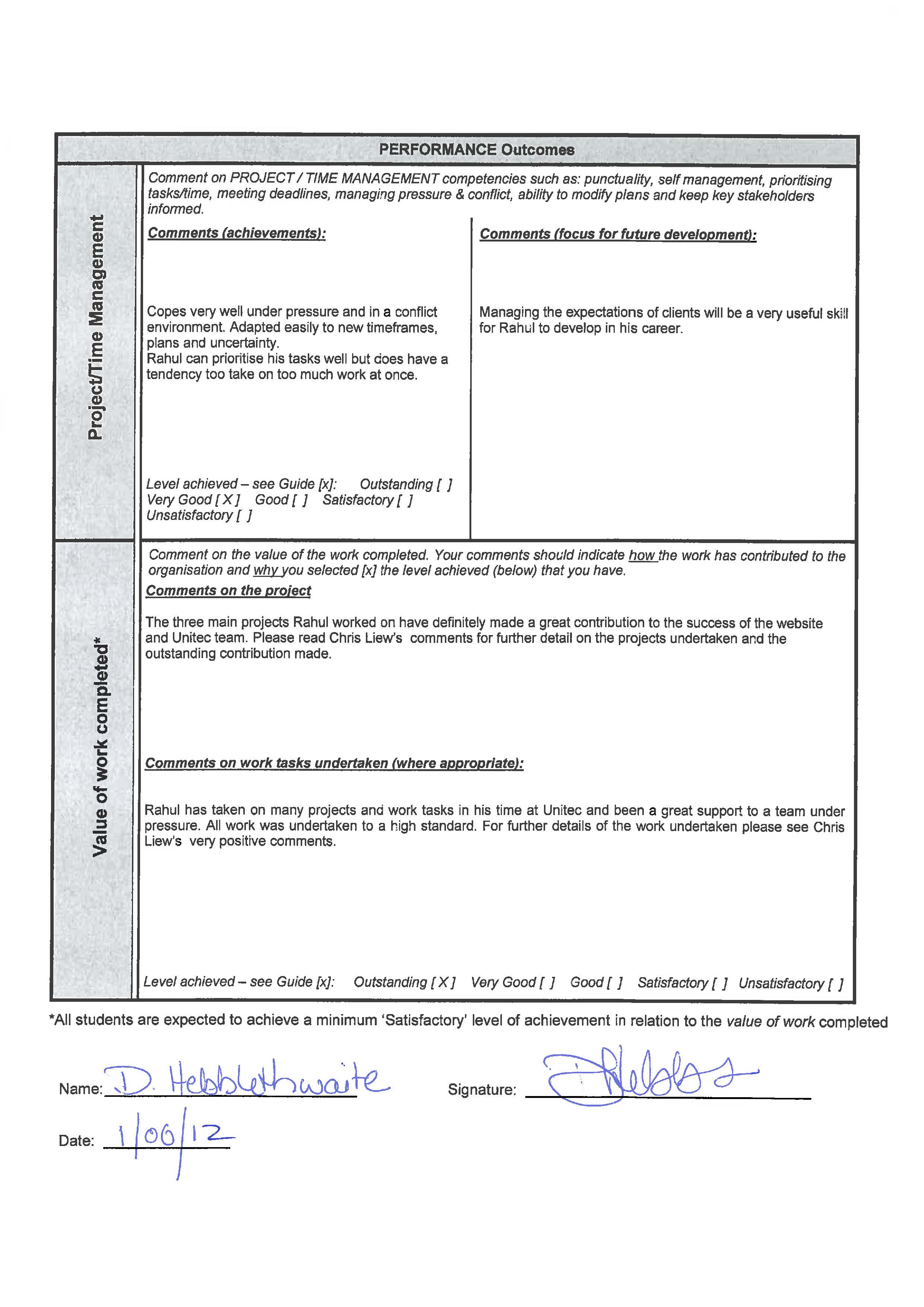 Collaborative Assessment Forms