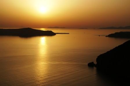 01 Santorin 03 Firostefani 02 Sunset depuis Firostefani (5).JPG