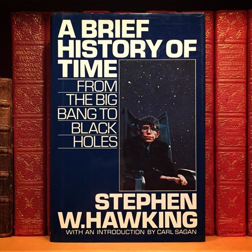 'A Brief History of Time' book's cover