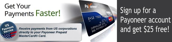 Payoneer-MasterCard-Free