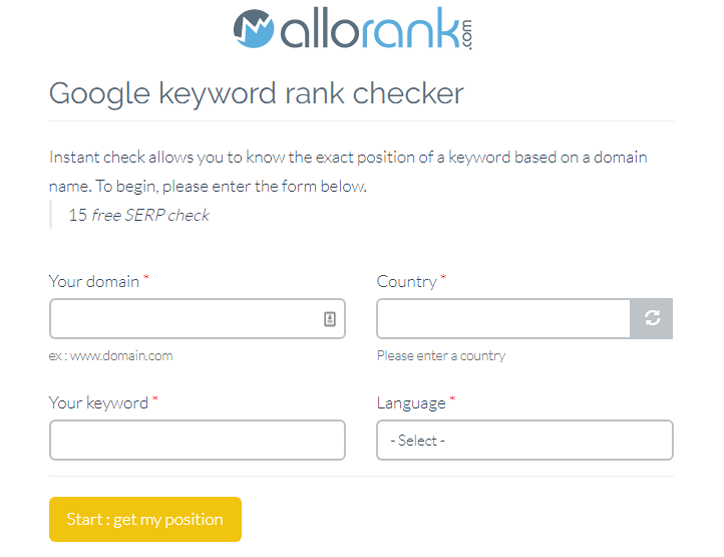 Free SERP rank tracker