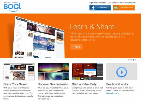 Trải nghiệm Mạng xã hội So.cl của Microsoft