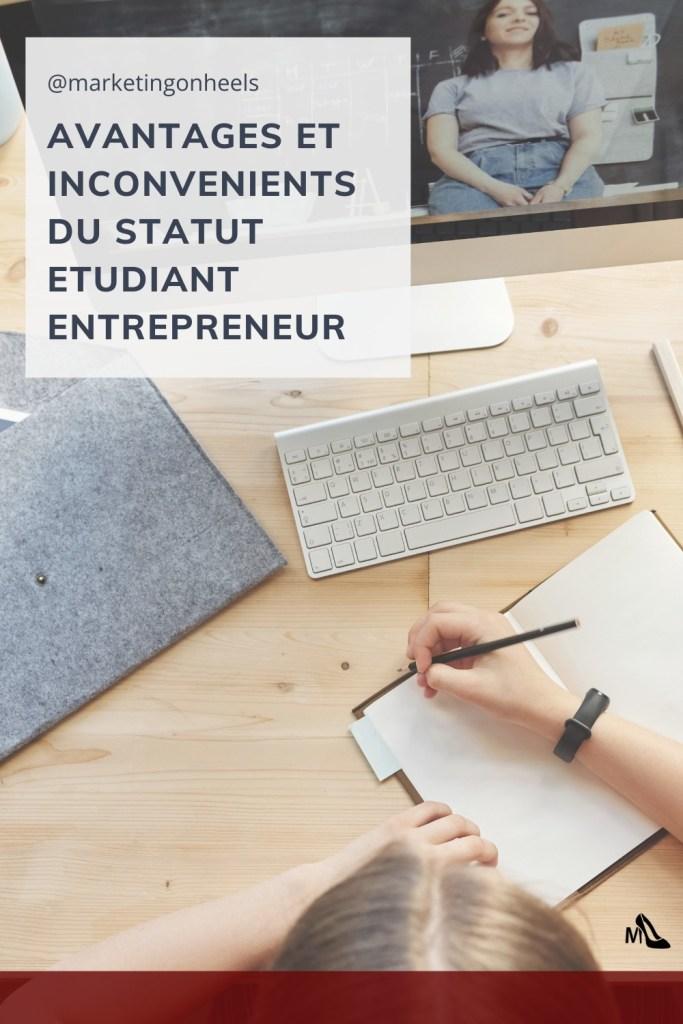 etudiant entrepreneur , avantages , inconvenients , etudiant ,entrepreunariat