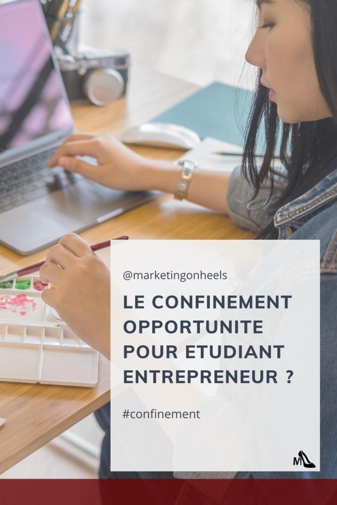 confinement , lockdown ,business , entrepreuneur , entrepreunariat, étudiant entrepreuneur
