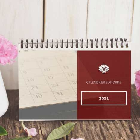 Calendrier Editorial 2021 modifiable téléchargeable pdf community manager stratégie marketing content marketing