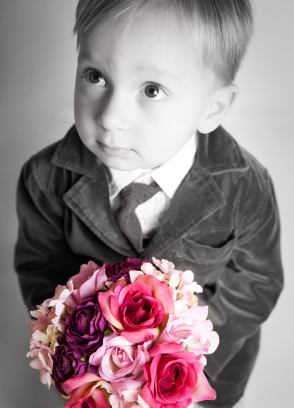 Little Boy With Bouquet