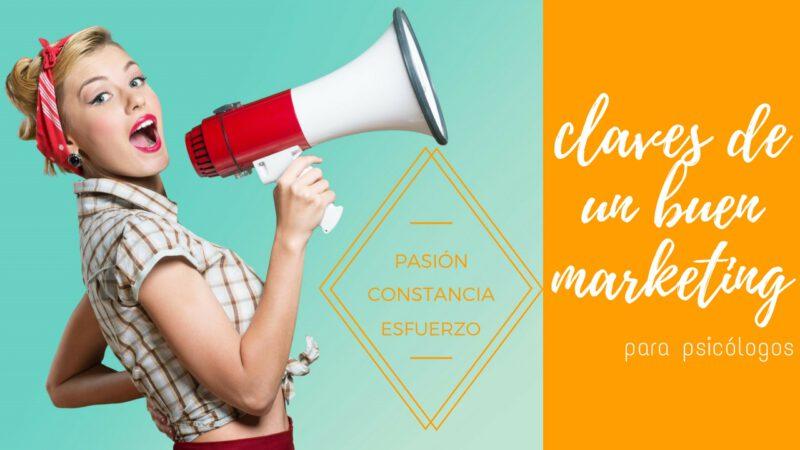 Claves de un buen marketing para psicólogos