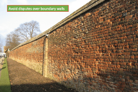 Avoid disputes over Boundary walls