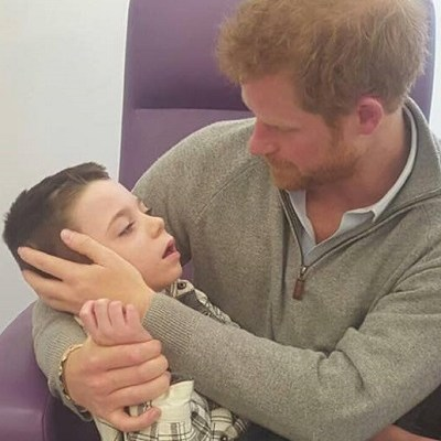 Ollie meets Prince Harry