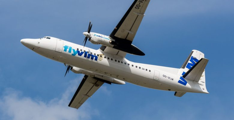 Manchester to Belgium flights will operate on a VLM Fokker 50 aircraft.