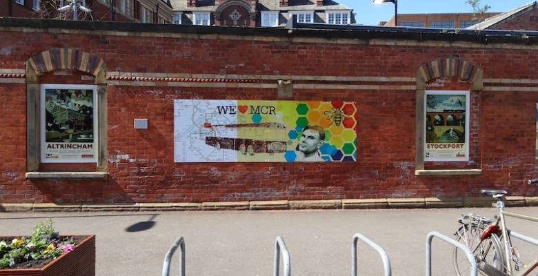 POsters at Altrincham Railway Station