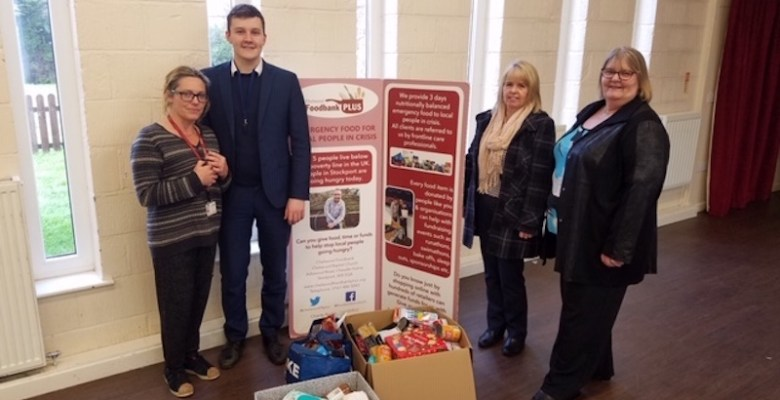 Vernon Building Society Foodbank donation