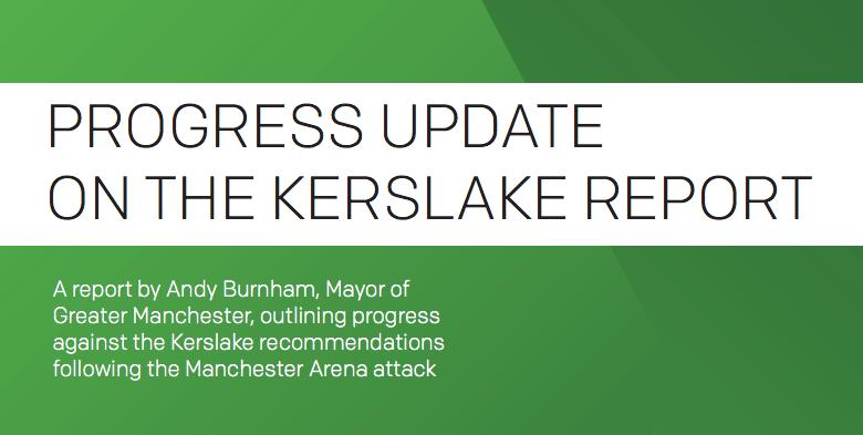 Progress update on the Kerslake Report