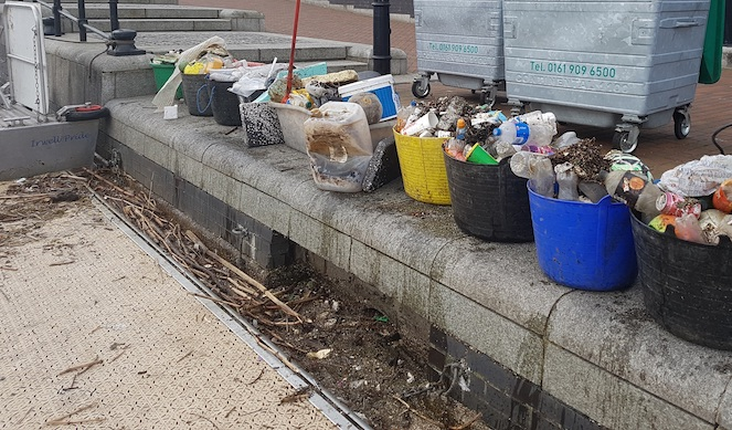 Plastic rubbish collected