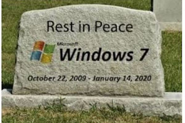 Image result for Windows 7 RIP