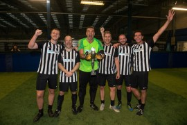 Stockport based musicMagpie lived up to its name at a five-a-side tournament for Manchester businesses who raised over £2,000 for charity.