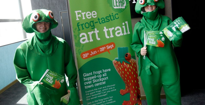 Stockport frogs are joining in Stockport's BIG run