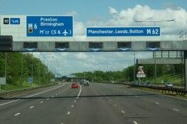 M62 junction 10