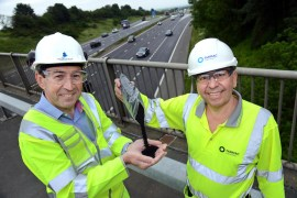 New rubber road surface being trialled by Highways England