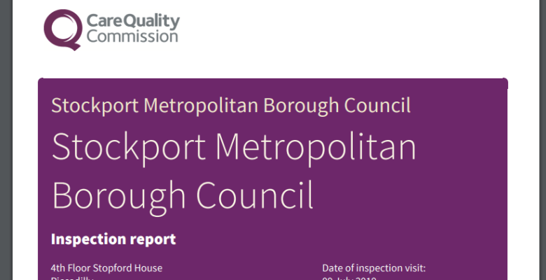 Stockport supported living report from CQC