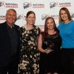 Youth Sports coach Sasha Moore with Dave Moorcroft, Samantha Barton and Kelly Sotherton