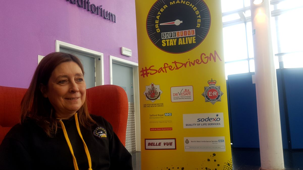 Leslie Allen is part of the team behind the Safe Drive Stay Alive campaign
