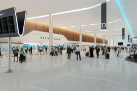 The first of the new 'island' check-in desk banks will open in 2020 at Terminal 2