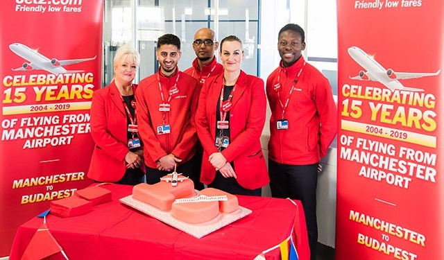 Jet2.com celebrates 15 years flying from Manchester Airport