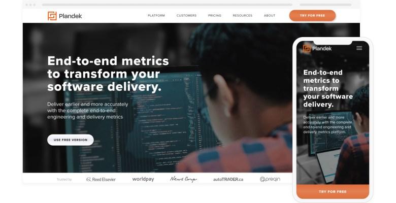 Stockport digital agency Northern Comfort's new website for Plandek