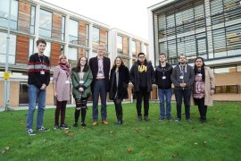Student leaders come togethe to discuss climate change with GMCA Head of Environment Sam Evans