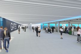 Security Hall at Manchester Airport Terminal 2 Pier Two which will have the capability to handle the double-decker A380.