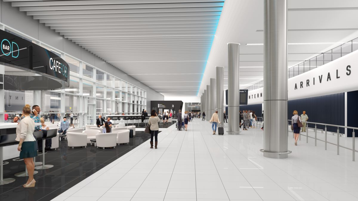 2020 will see a brand-new arrivals hall and bus gate lounge open at Manchester Airport Terminal 2