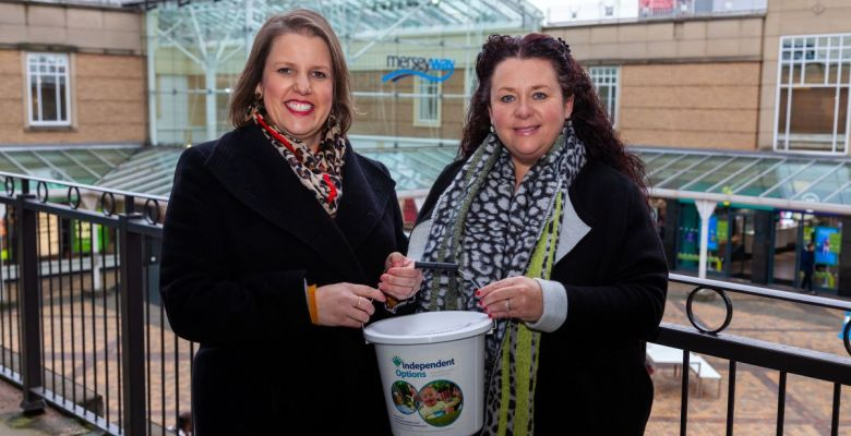 Merseyway shoppers raise £1600 for charity partner Independent Options