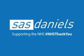 SAS Daniels recolours its logo blue to honour NHS workers