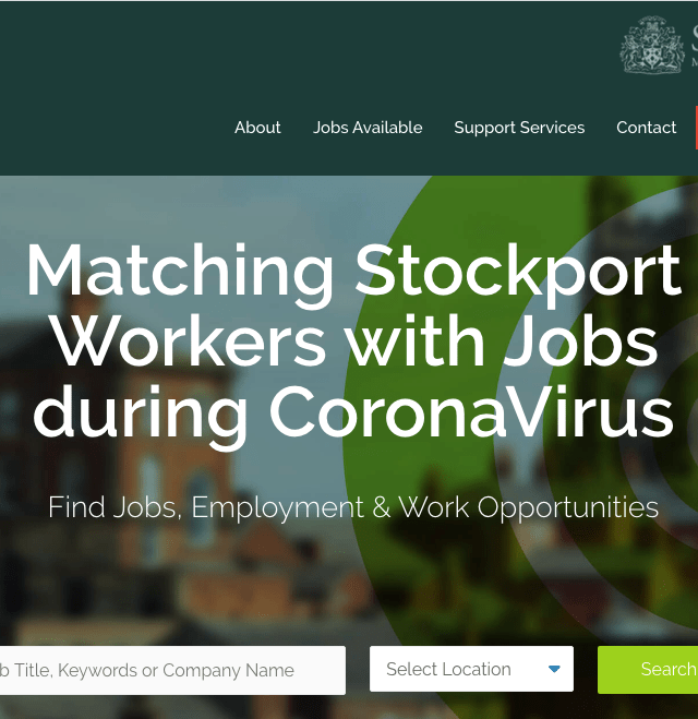 Coronavirus: Launch of Stockport Jobs Match