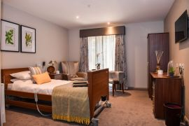Bedroom at new care facility Bramhall Manor