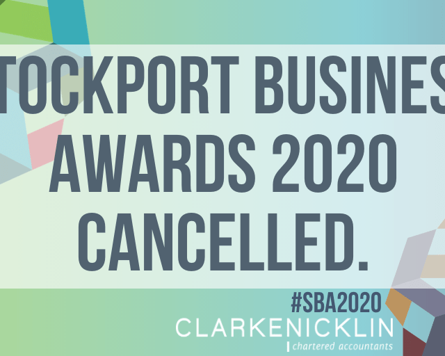2020 Stockport Business Awards cancelled due to Covid-19