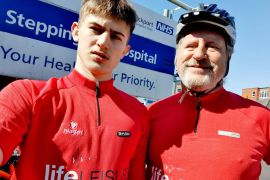 Stockport businessman and son raise money with cycling challenge