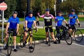 Belle Vue cyclists