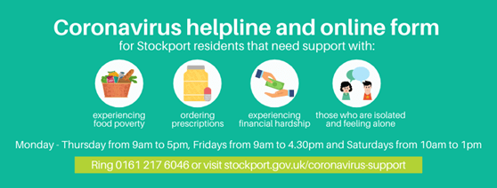 Community: Coronavirus helpline Stockport